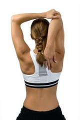 肩 ・腕のストレッチ