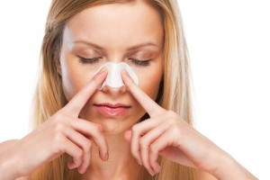 鼻を温める