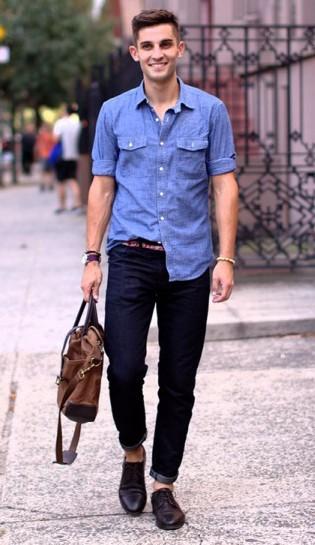 Mジーンズ×革靴