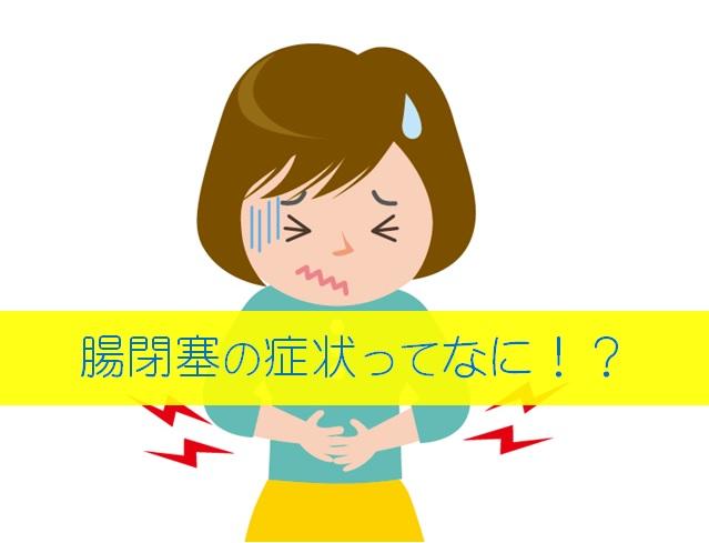 腸閉塞 症状