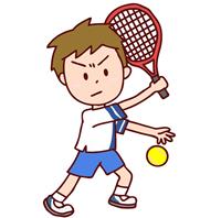 テニスバックハンド